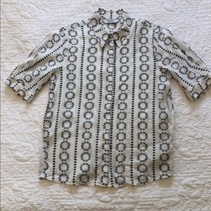 &other stories short sleeve shirt in size 4